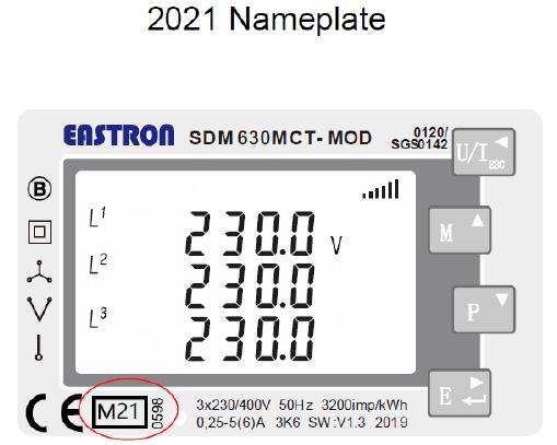 2021 Nameplate